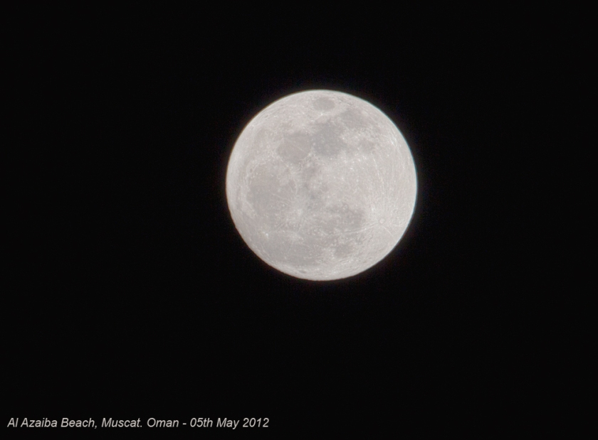 Full Moon on 5th May 2012