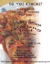 Kimchi making and sharing festival